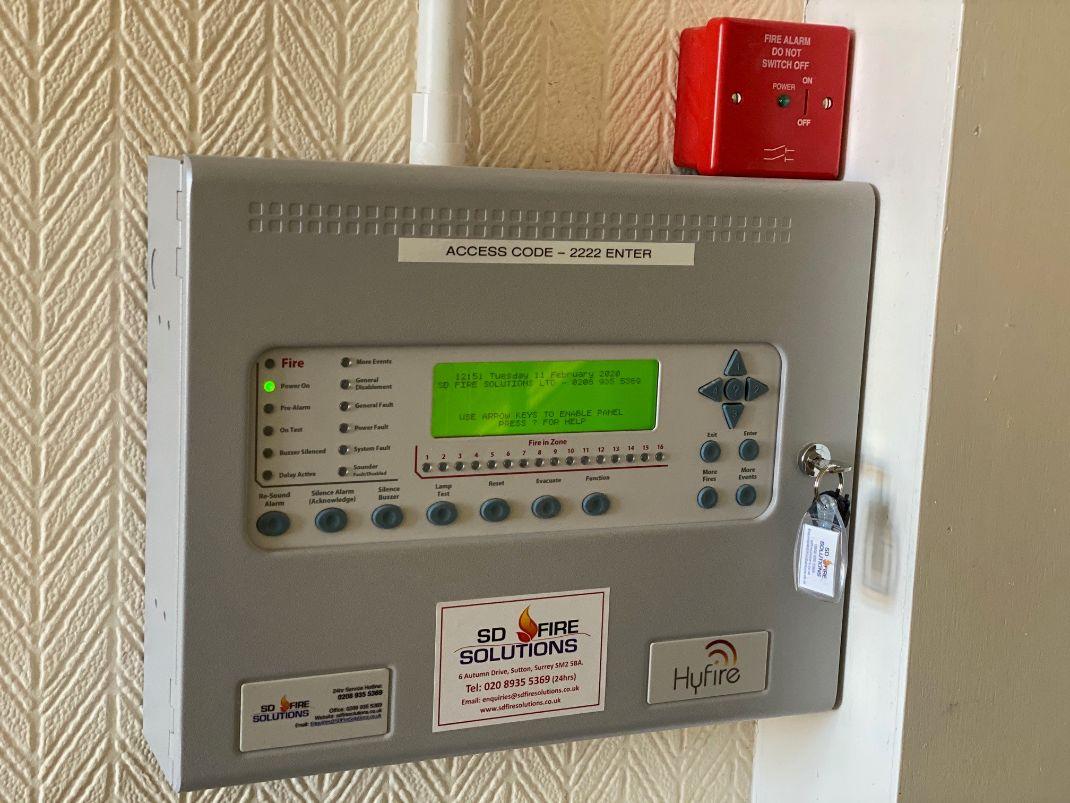 HMO fire alarms Sutton, Carshalton, Croydon, Epsom, Wimbledon
